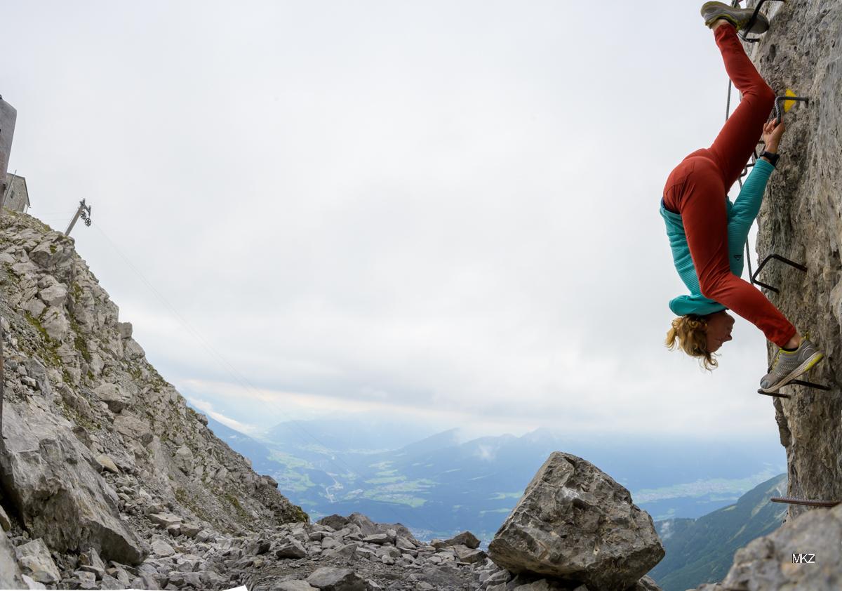 Gegenstand, Sieglinde Scaheur am Klettersteig Geierwally fotografiert von Monika K. Zanolin
